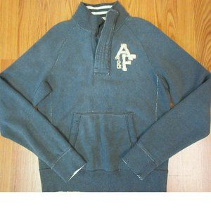 ABERCROMBIE & FITCH MUSCLE FIT DARK GRAY 1/4 ZIP